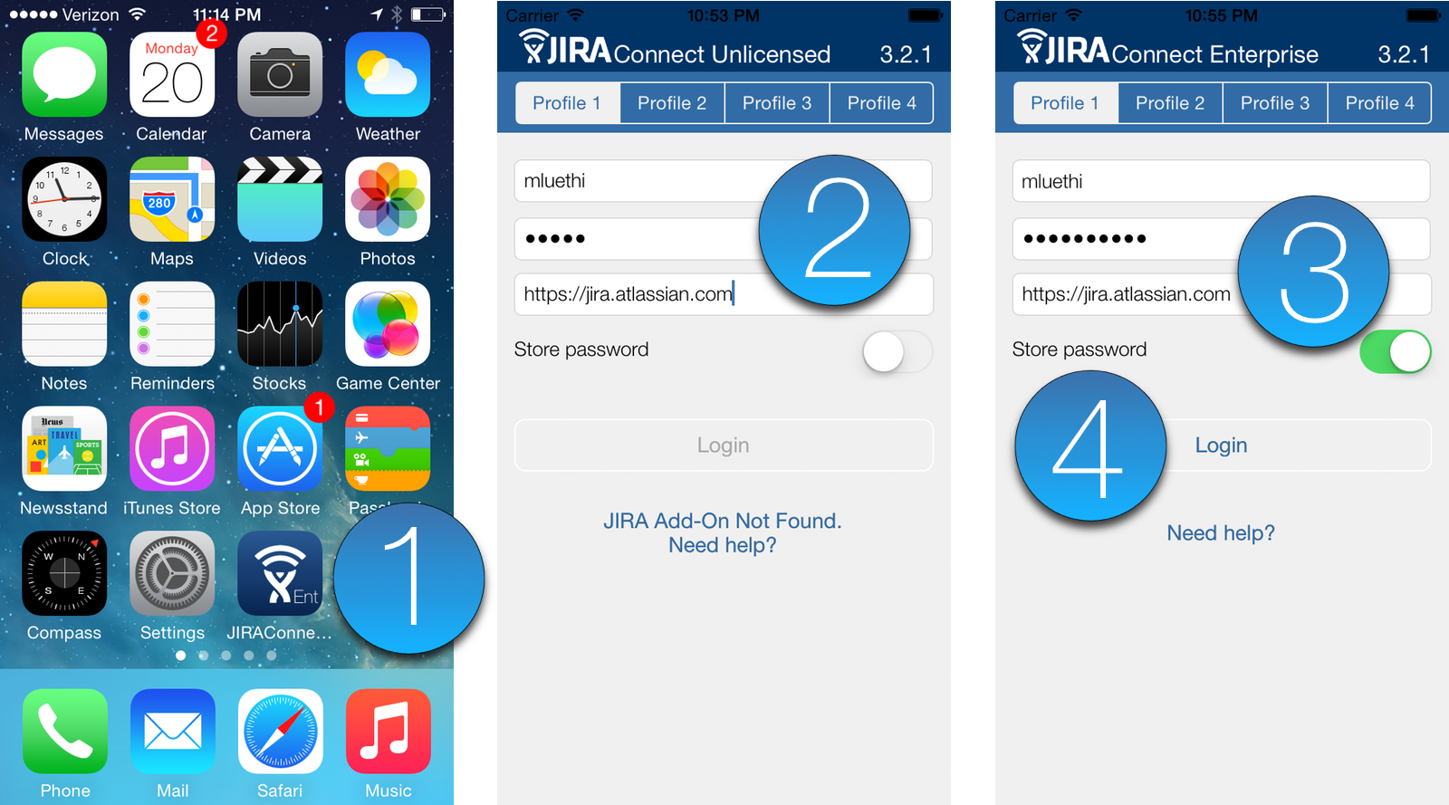 Log in to JIRA Connect